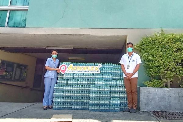 ส่งมอบ น้ำดื่มแทนน้ำใจ AEROFLEX ต้านภัย COVID-19 / Contributing AEROFLEX Drinking Water to fight against Covid-19