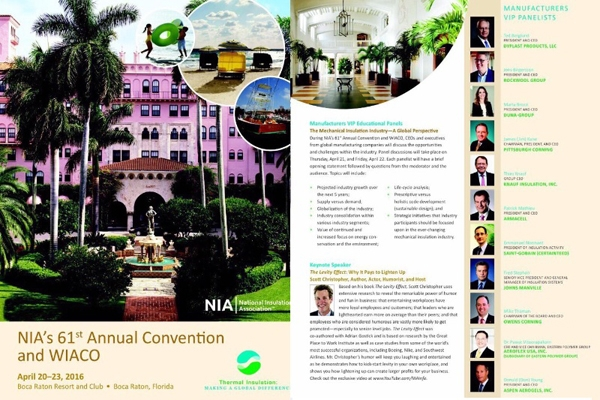 NIA's 61st Annual Convention and WIACO