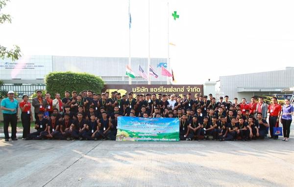 เปิดบ้าน  Aeroflex ต้อนรับวิทยาลัยการสมเด็จพะโคะ / Aeroflex welcomes the Somdejchaopakho industrial and communities college